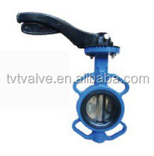 TVT handle lever type Iron wafer butterfly valve