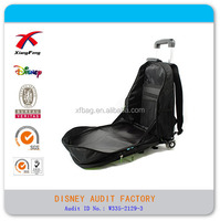 Polyester travel kids trolley bag with cute logo manufactured in China