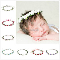 Latest fashion baby infant flower wreath flower headbands