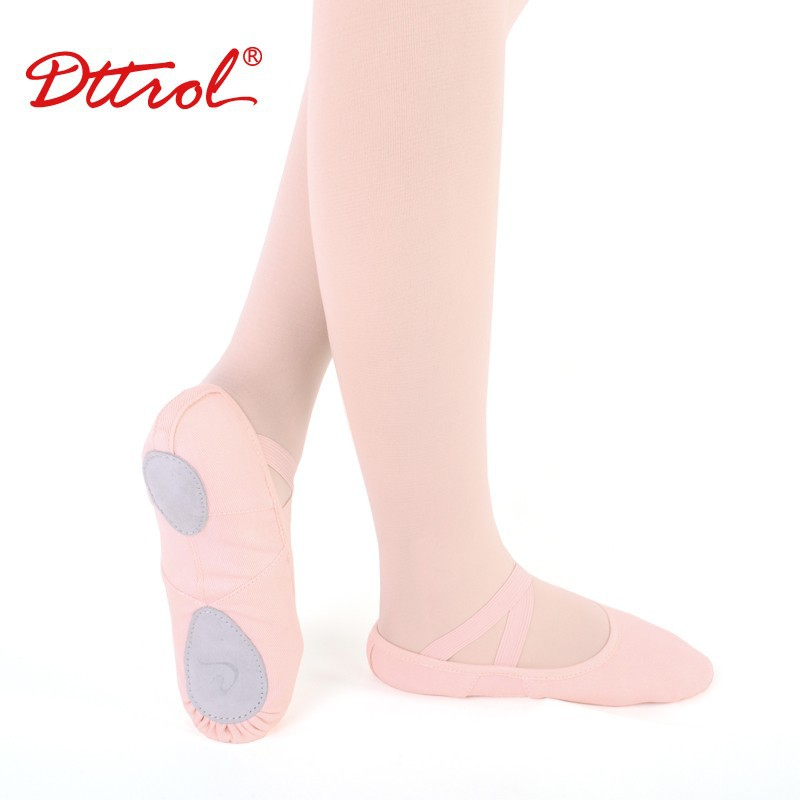 D012003 Dttrol Dance Wholesale Split - Sole Elastic Canvas Ballet Shoes