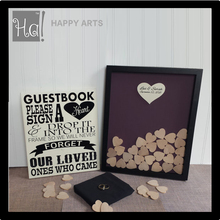 Unique Wedding Guest book shade box Sign and Drop in Frame for decoration