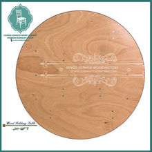 Wood top round dining table for all kinds of colors