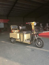three wheel electric tricycle carbin cargo with seats / adult electric tricycle for passenger