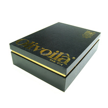 silk accessory customized gold logo olive oil packaging gift box