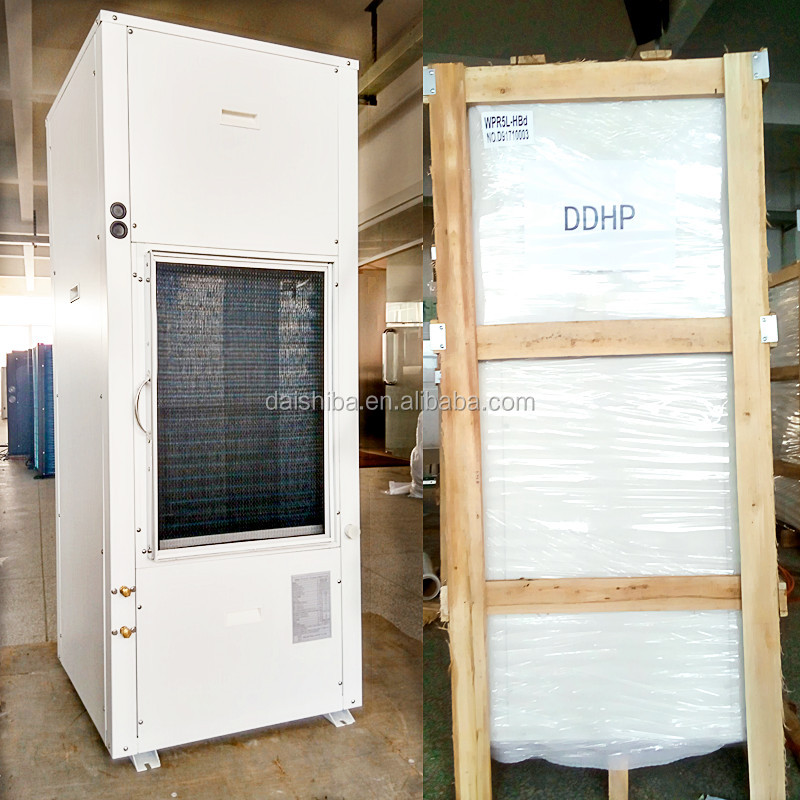 Exported to European market <strong>AC</strong> (Non-DC inverter )water source heat pump air conditioner for heating cooling ,no installation kit