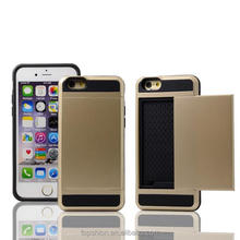outter PC+inner tpu double layer phone cases for iphone 6 plus