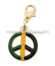 Peace pendant.Zinc alloy pet charm.necklaces pendant