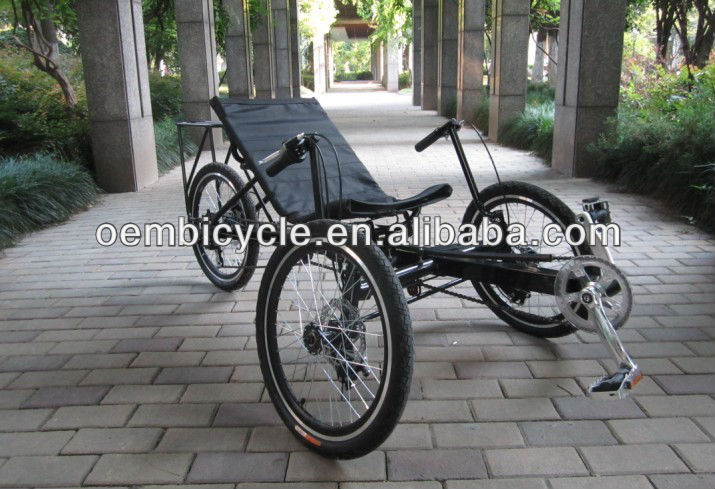 20 inch hot sale cheap three wheels adult leisure recumbent pocket adult tricycle bikes for sale