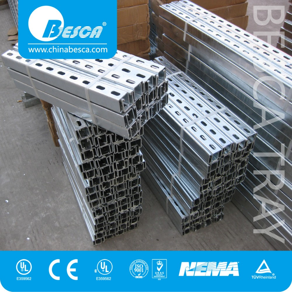 China Stainless Steel Unistrut Channel Sizes Manufacturer