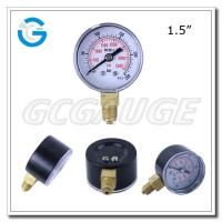 High quality black steel cheap pressure gauge