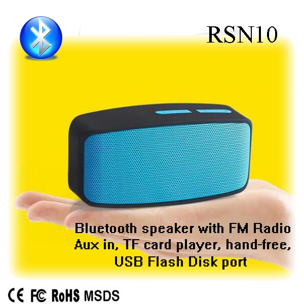 Christmas gift speaker box with wheels cheap mp3 player with speaker with high quality RSN10