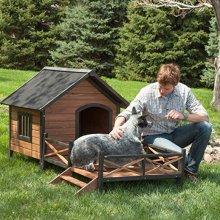 OEM outdoor insulated steel plastic aluminum wooden large dog house