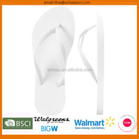 Latest design 2015 basic solid color cheap white flip flops for weddings