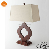 home decorative table lamp wood made in china,wholesale table lamp shade