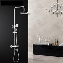 "Thermostatic shower valve, shower mixer with shower head, 8"" showerhead"