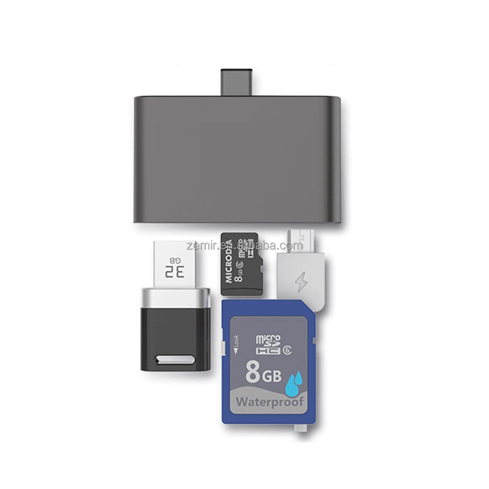 Type-C USB 3.1 OTG USB 2.0 HUB SD TF Card Reader