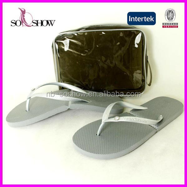 2017 women cheap wholesale pu strip foldable flip flop