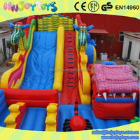 Giant dragon inflatable bouncer water slide