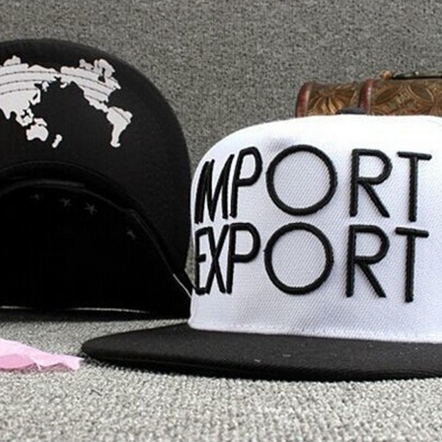 The flat head hat cap hip-hop cap IMPORT letter sun hat