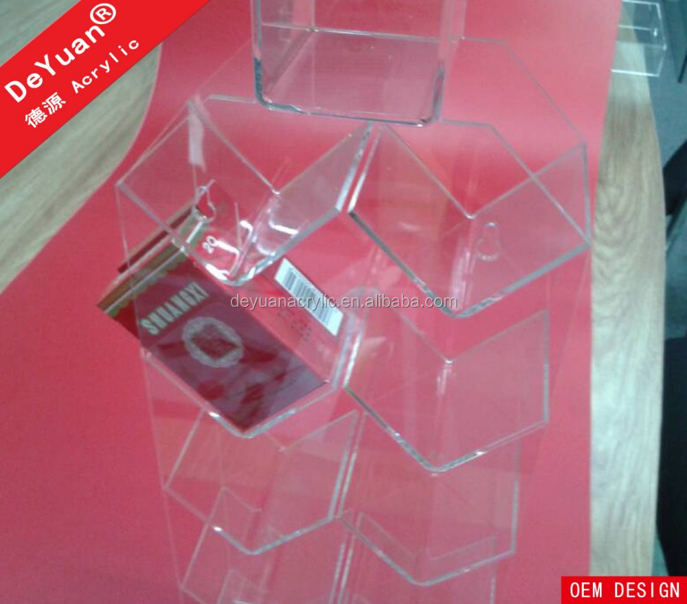 Acrylic Clear Wall Mounted Cigarette Display