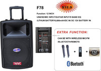 portable speaker with subwoofer usb,sd,fm,trolley(F78)