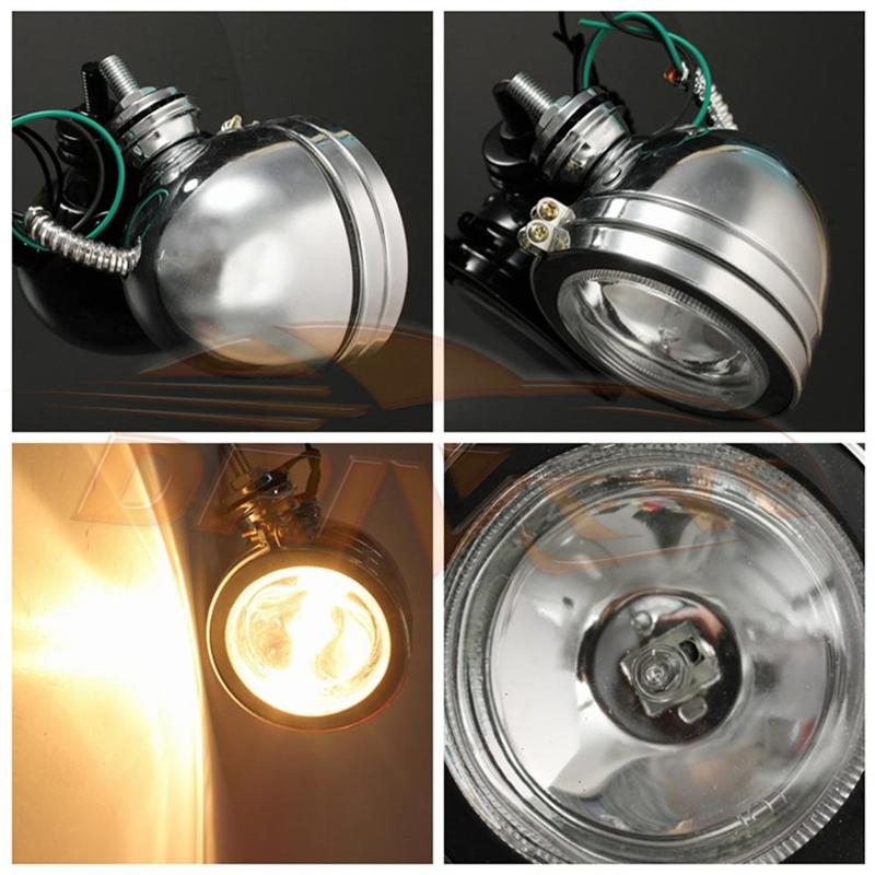 "Driveye 4"" 5"" 6"" ROUND CHROME WHITE ANGEL EYE HALOGEN H3 CAR SPOTLIGHT CAR SPOT LIGHTS FOG LIGHTS 12V 55W"