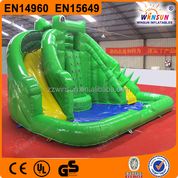 Large kids toys jumping castles inflatable water slide with CE approved for outdoor use