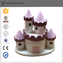 hot sell ceramic house shape money safe box for home ornament
