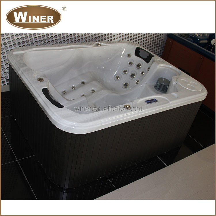 2016 Morden Indoor freestanding acrylic whirlpool massage bathroom 2 persons hot tub