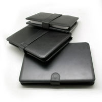 Black Leather Case with USB Interface Keyboard