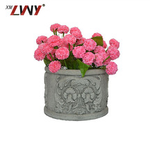 Artificial Square Christmas Decoration Resin Flower Pot