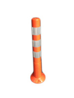Road Safety High Density Yellow PU PE Plastic Bollard, Parking Bollard