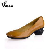 modern style fashion rubber pumps women's dress shoes high heel ladies genuine leather