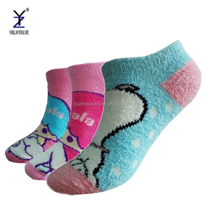 Kids cute comfort colorful ankle length soft cozy cartoon tube fuzzy socks unisex