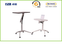 Laptop table height adjustable workstation