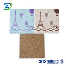 The promotional natural stone eiffel tower printing ceramic coaster