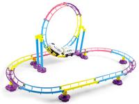 Children park roller coaster with light railway toy set Children park roller coaster with light railway toy set