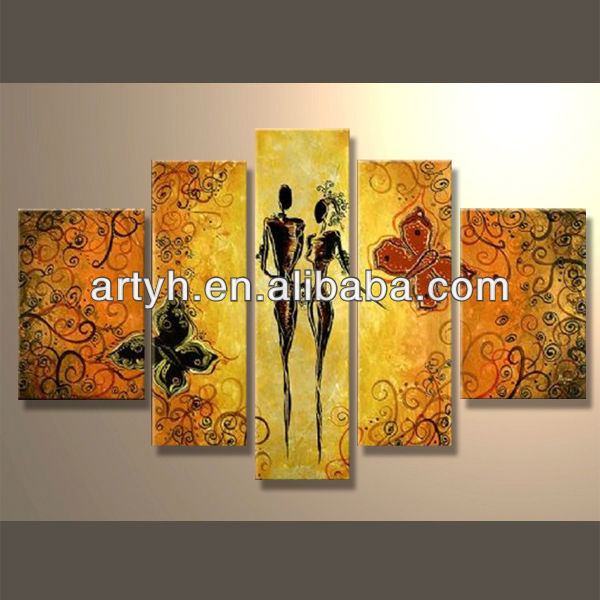 Popular modern handpainted abstract painting art figure