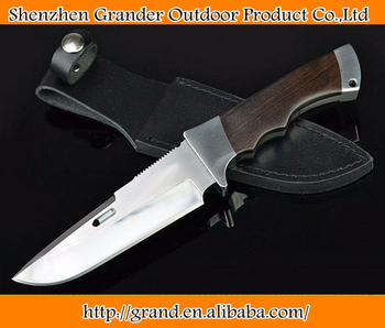 OEM tactical survival knives fixed blade hunting knife outdoor tool hand YXP-7HPC blade wood handle 1593