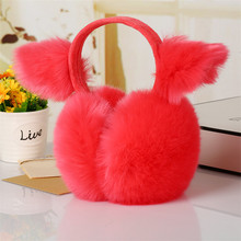 2018 New Winter Warm Folding Cat Ears Heated Earmuff