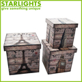 MDF wooden materials faux leather jewelry boxes with lockable