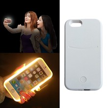 Newest Selfie Light Up Mobile Phone Case Luminous LED Selfie Case For iPhone 6