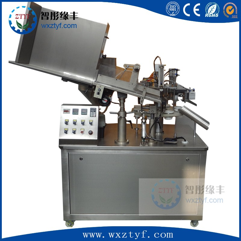 cream filling & sealing machine glue and adhesive tube filling and sealing machine