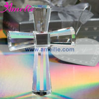 A0737 Wholesale Silver Personalized Crystal Cross Religion Crystal Gifts