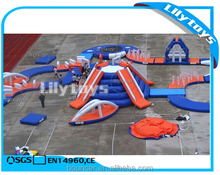 Best 0.9 mm pvc moving spain inflatable floating water park for ocean