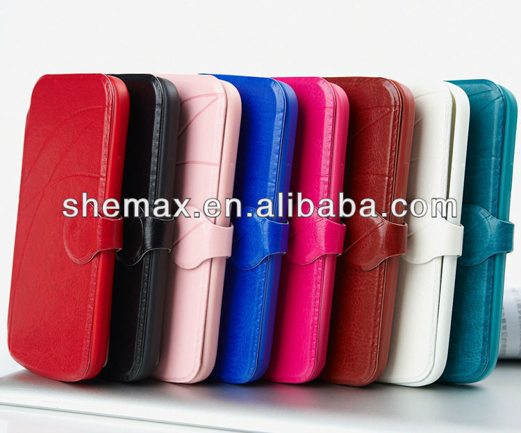 Made in china Premium PU Leather Flip Case with Kickstand For Samsung Galaxy S4 mini i9190,