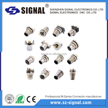 ISO certified ip68 m12 3 4 5 8 12 Pin plug socket connector