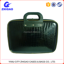 more popular stone grain pu computer briefcase with plastic handle
