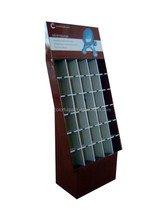 Retail store advertising fashionable corrugated cardboard cosmetic display rack