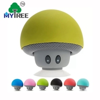 Mini Mushroom Shape Active Bathroom Splash Proof Wireless Speaker With Suction Cup For Phone Holder